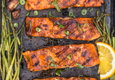 Grilled Salmon with Orange Maple Glaze