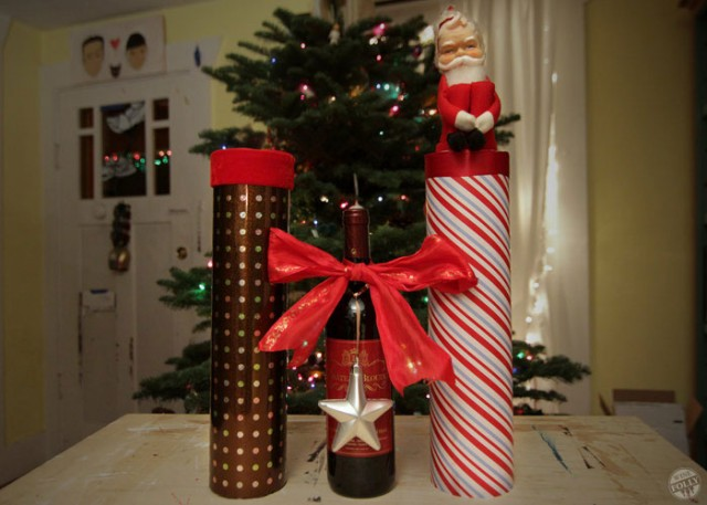 How to Wrap a Wine Bottle for Christmas