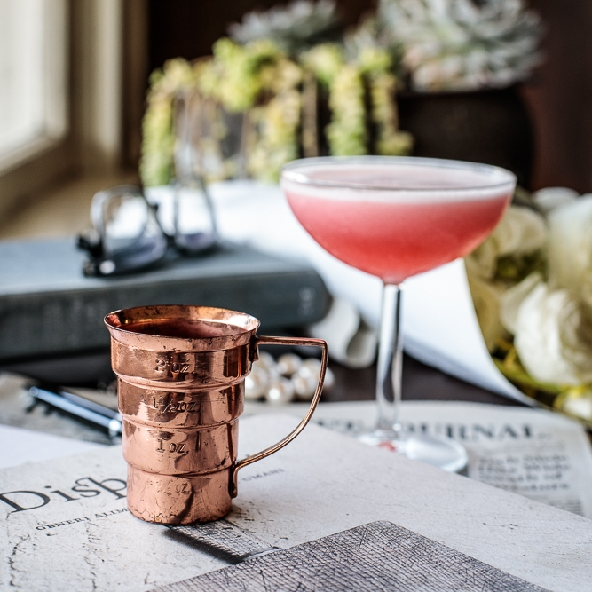 Napier Jigger  - a vintage inspired bar measure from the 1930's, when the Clover Club Cocktail was all the rage!