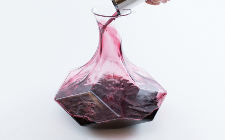 This Geometric Inspired Wine Decanter Will Make Your Table Glisten