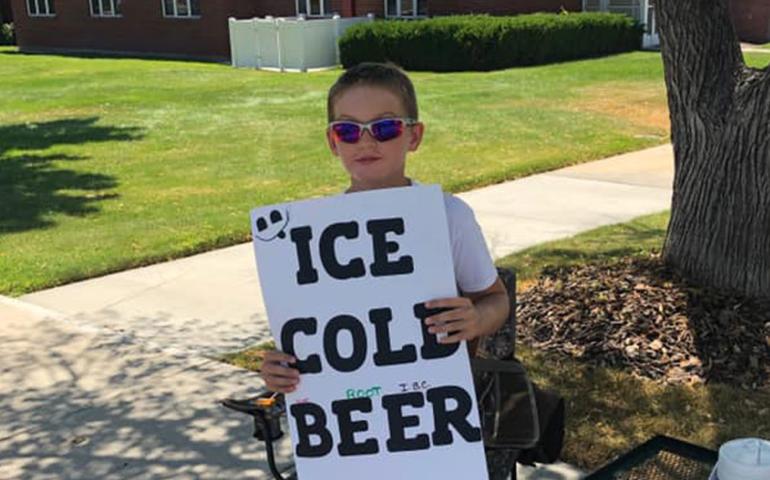 Utah Boy Sells 'ICE COLD (root) BEER' With Genius Marketing Move