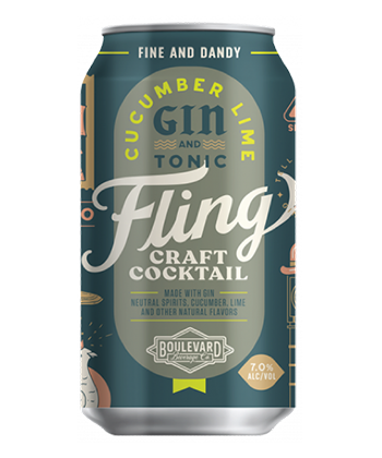 Boulevard Brewing Cucumber Lime Gin and Tonic is one of the best canned G&Ts for 2019.
