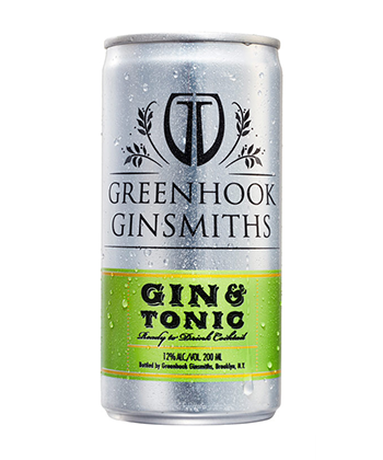 Greenhook Ginsmiths Gin & Tonic is one of the best canned G&Ts for 2019.