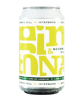 "Interboro ""Goodwin Hill"" is one of the best canned G&Ts for 2019."