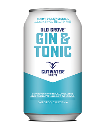 "Cutwater Spirits ""Old Grove"" is one of the best canned G&Ts for 2019."