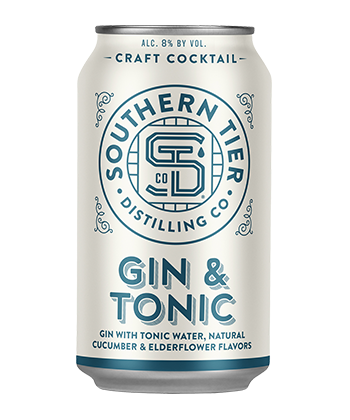 Southern Tier Distilling Co. Gin & Tonic is one of the best canned G&Ts for 2019.
