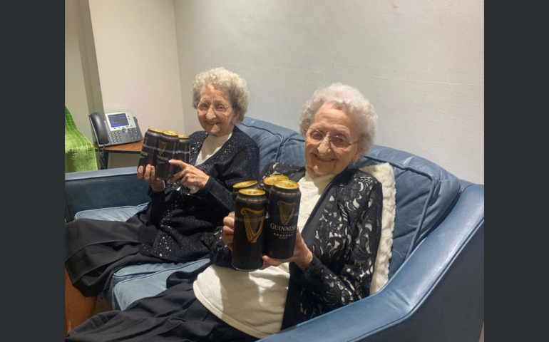 'No Sex and Plenty of Guinness' Key To a Long Life Say Britain's Oldest Twins