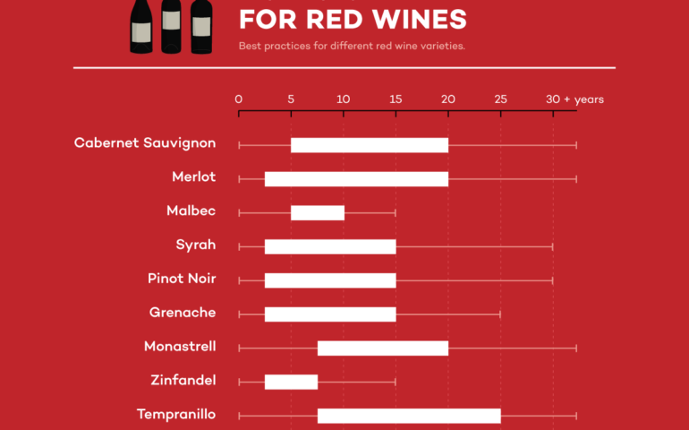 Red Wine Aging Chart (Best Practices)