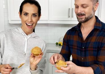 FIXATE Pumpkin Muffins With Pumpkin Spice Frosting
