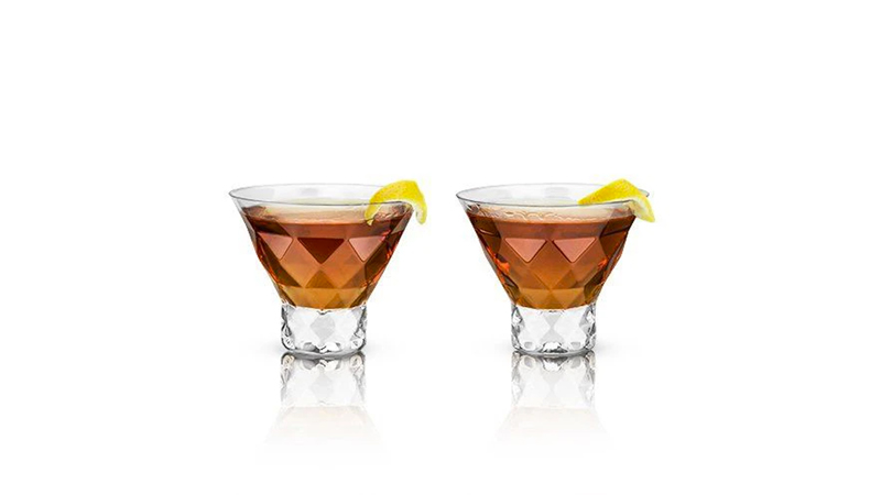 Best Faceted Stemless Martini Glasses (Set of 2)