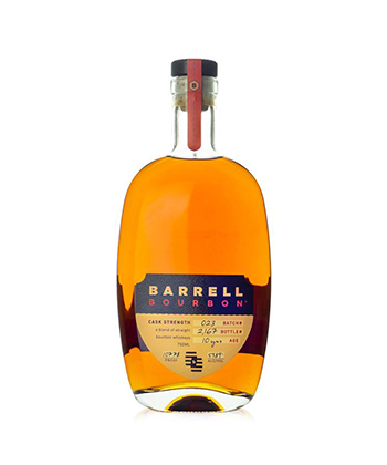 Barrell Bourbon is one of the 30 best bourbons of 2020.