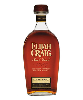 Elijah Craig Barrel Proof is one of the 30 best bourbons of 2020.